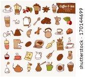 dooodle coffee  and tea c icon... | Shutterstock .eps vector #170144699