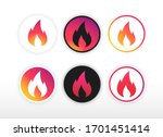 set of gradient fire icons....