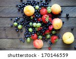fresh berries on the table  top ... | Shutterstock . vector #170146559