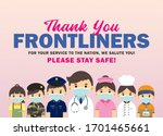 thank you frontliners who work... | Shutterstock .eps vector #1701465661