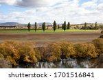 Rural Landscape Along The River ...