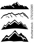 mountain peaks landscapes with... | Shutterstock .eps vector #170152085