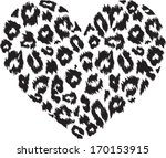heart with leopard print... | Shutterstock .eps vector #170153915