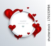 vector valentines day... | Shutterstock .eps vector #170153984