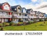 a row of a new houses in... | Shutterstock . vector #170154509
