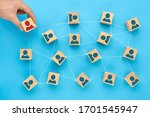 the concept of observing social ... | Shutterstock . vector #1701545947