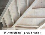 Detail Of A Modern Wooden Roof. ...