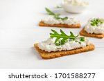 Crispy Bread Crackers With...