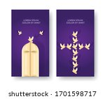 gold and purple design church...