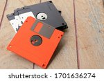 A Close Up Of An Old Diskette...