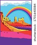 great american desert ...   Shutterstock .eps vector #1701640084
