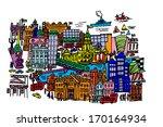 a cartoon style  vector... | Shutterstock .eps vector #170164934