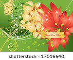 abstract floral background....