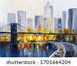 Oil Painting   Brooklyn Bridge  ...