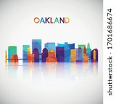 Oakland Skyline Silhouette In...