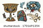 medieval old school tattoo... | Shutterstock .eps vector #1701691354