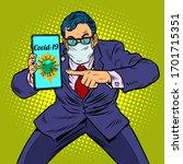 businessman panic coronavirus... | Shutterstock .eps vector #1701715351