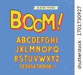 """boom "" original 3d alphabet.... | Shutterstock .eps vector #1701730927"