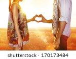 silhouette of hands in form of... | Shutterstock . vector #170173484