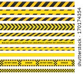 yellow with black police line... | Shutterstock .eps vector #170174354
