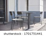 empty street cafe at the...   Shutterstock . vector #1701751441