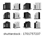 company icon and silhouette... | Shutterstock .eps vector #1701757237