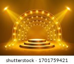 podium with lighting. stage ...   Shutterstock .eps vector #1701759421