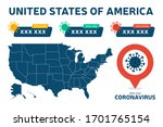 covid 19 usa map confirmed... | Shutterstock .eps vector #1701765154