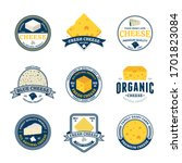set of cheese vintage logo... | Shutterstock .eps vector #1701823084