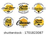 vector cheese vintage logo and... | Shutterstock .eps vector #1701823087