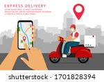 express delivery. shipping in...   Shutterstock .eps vector #1701828394