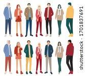 set of men and women  cartoon...   Shutterstock .eps vector #1701837691