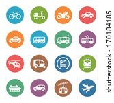 transportation icons   dot... | Shutterstock .eps vector #170184185