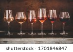 Various Shades Of Rose Wine In...