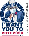 uncle sam i want you to vote... | Shutterstock .eps vector #1701875461