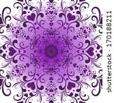 White Violet Valentine...