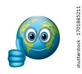 thumd up emoji   emoticon  ... | Shutterstock .eps vector #1701885211