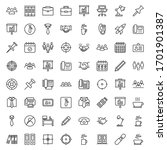 office line icon set.... | Shutterstock .eps vector #1701901387