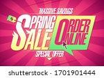 spring sale massive savings ... | Shutterstock .eps vector #1701901444