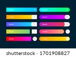 search bar vector element with...