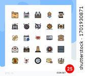 filled line flat color pack of... | Shutterstock .eps vector #1701930871