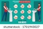 how to wash your hands...   Shutterstock .eps vector #1701943027