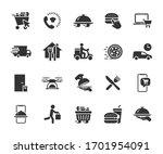 vector set of food delivery... | Shutterstock .eps vector #1701954091