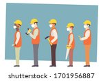 construction workers in white... | Shutterstock .eps vector #1701956887