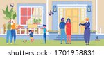 happy family moving to new home....   Shutterstock .eps vector #1701958831