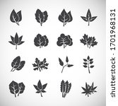 leaf related icons set on...   Shutterstock .eps vector #1701968131
