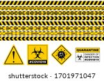 stop covid 19 sign. seamless... | Shutterstock .eps vector #1701971047