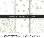 set of 6 patterns in japanese... | Shutterstock .eps vector #1701974131