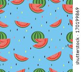 vector seamless pattern with... | Shutterstock .eps vector #170199869