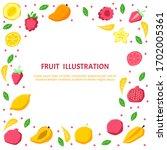 fruits vector illustration.... | Shutterstock .eps vector #1702005361